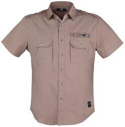 Camisa manga corta marrón ejército