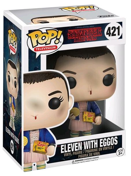 STRANGER THINGS POP! TV VINYL FIGUREN ELEVEN WITH EGGOS 9 (NORMAL)