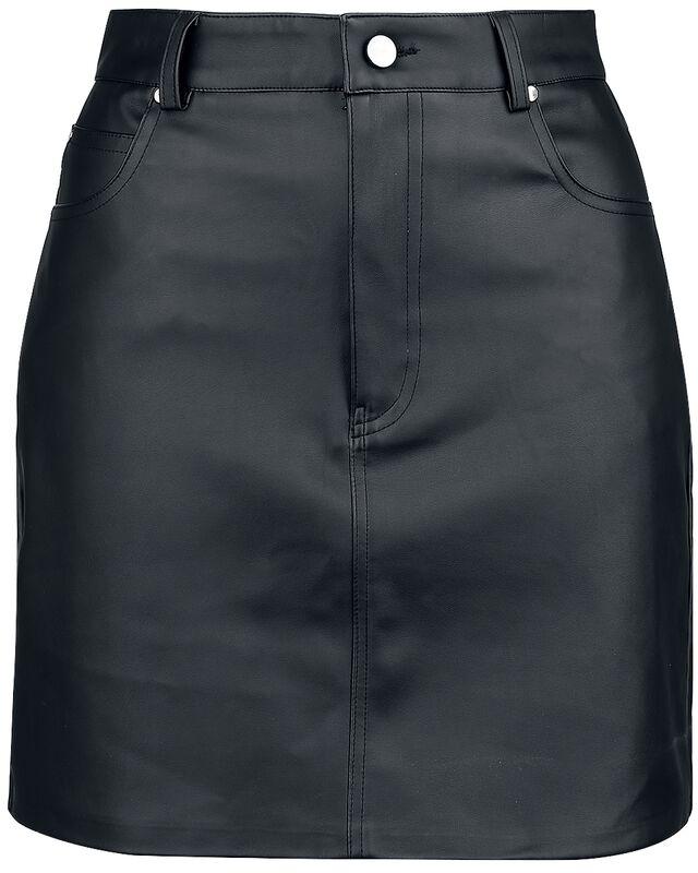 Falda de piel artificial