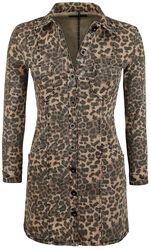 Leopard-Print Denim