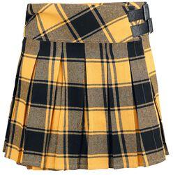 Kilt amarillo con hebillas laterales