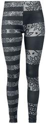 Leggings negro/gris de completo estampado