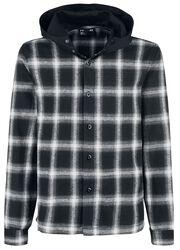 Camisa con capucha de franela