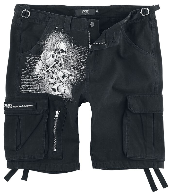 Black Army Shorts estampados