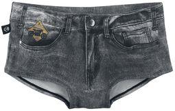 Dunkelgraue Bikinihose im Jeans-Look