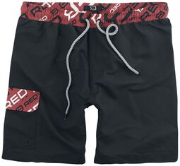 Black Swimshorts with Label Print