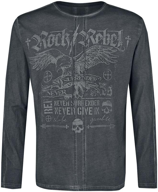Camisa de manga larga con estampados detallados