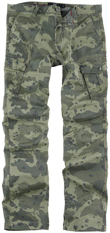 Pantalones cargo con estampado de camuflaje