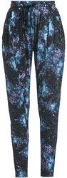 Pantalones negros holgados con estampado Galaxy