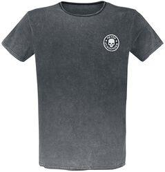 Camiseta con lavado y parche