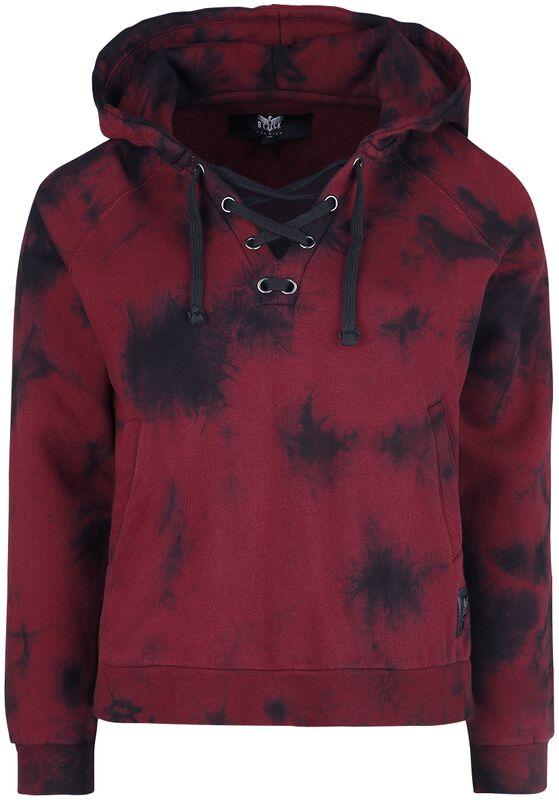 Capucha look batik roja/negra con cordón