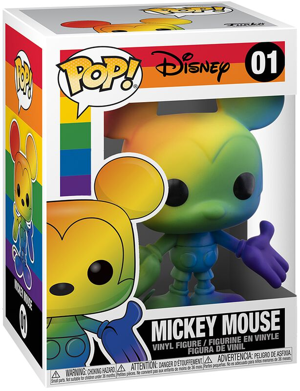 Figura vinilo Pride 2020 - Mickey Mouse (Rainbow) 01